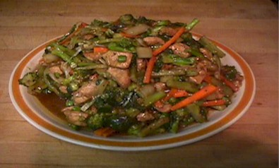 Brocolli Chicken Chinese Dish
